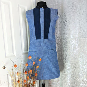 GAP Chambray sleeveless dress Sz 0